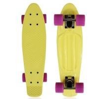 """NKD Classic Deluxe Skateboard 22"""" - Yellow"""